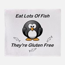 Eat Lots Of Fish Throw Blanket
