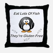 Eat Lots Of Fish Throw Pillow