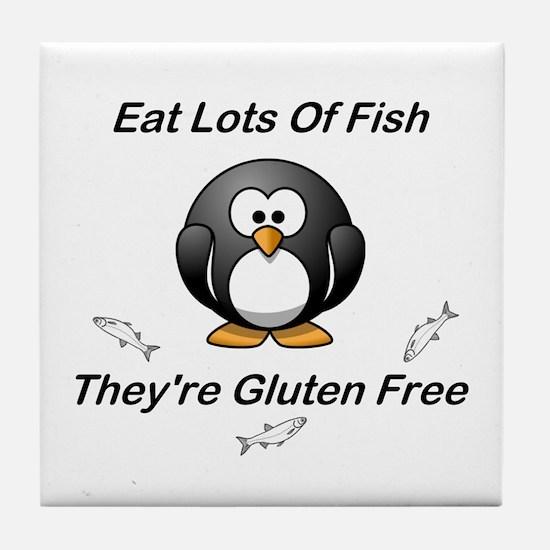 Eat Lots Of Fish Tile Coaster