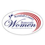 KCDW Sticker (Oval 50 pk)