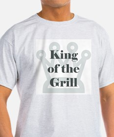 King of the Grill Ash Grey T-Shirt