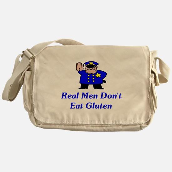 Real Men Don't Eat Gluten Messenger Bag