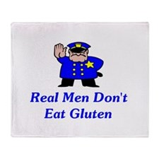 Real Men Don't Eat Gluten Throw Blanket