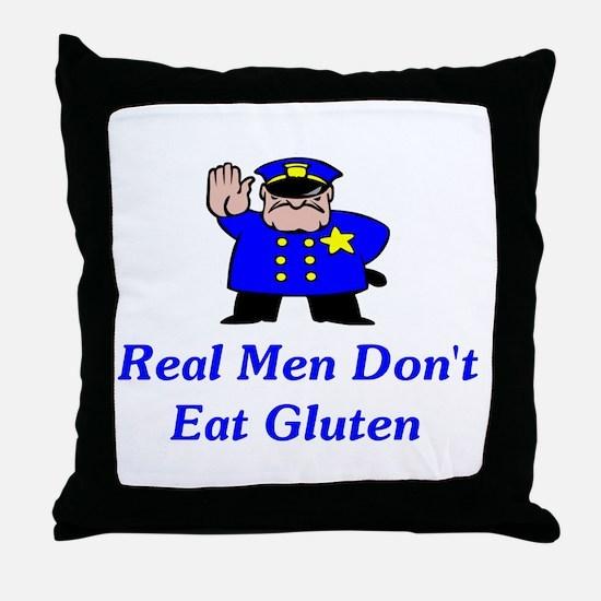 Real Men Don't Eat Gluten Throw Pillow