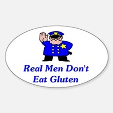 Real Men Don't Eat Gluten Decal