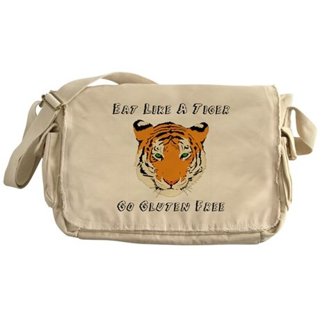 Gluten Free Tiger Messenger Bag