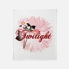 Twilight Flowers by Twidaddy.com Throw Blanket