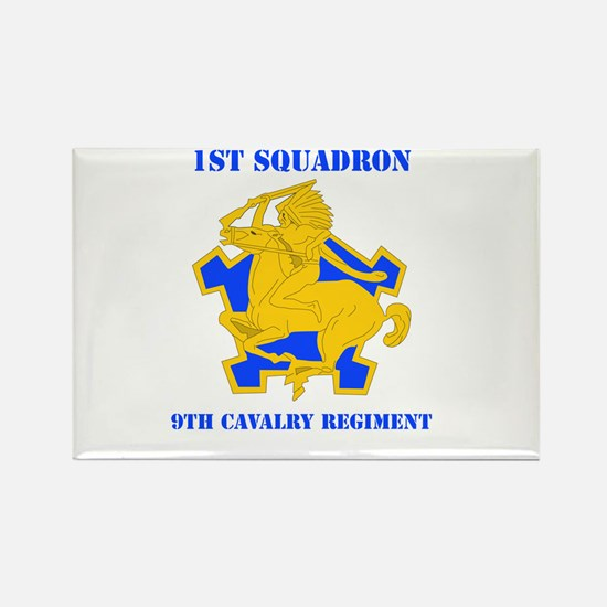 DUI - 1st Sqdrn - 9th Cavalry Regt with Text Recta