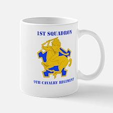 DUI - 1st Sqdrn - 9th Cavalry Regt with Text Mug