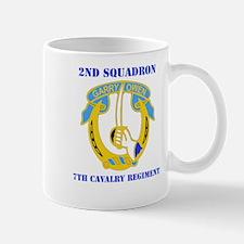DUI - 2nd Sqdrn - 7th Cavalry Regt with Text Mug