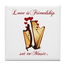 Love/Music Tile Coaster