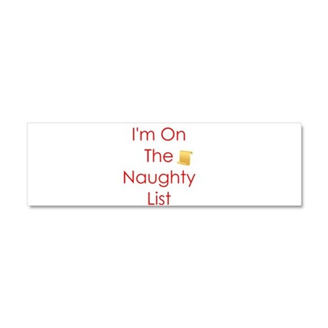 I'm on the Naughty List Car Magnet 10 x 3