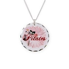 Pink PIlates Flowers by Svelte.biz Necklace