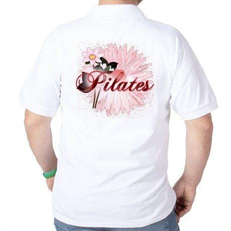 Pink PIlates Flowers by Svelte.biz Golf Shirt