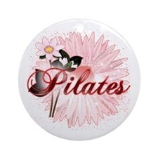 Pink PIlates Flowers by Svelte.biz Ornament (Round