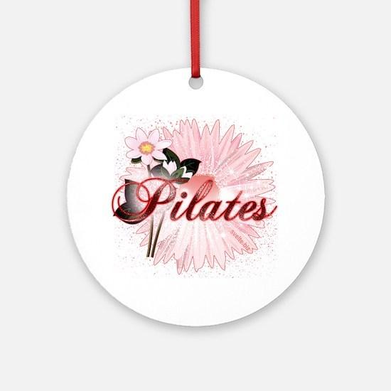 Pink PIlates Flowers by Svelte.biz Ornament (Round