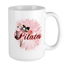Pink PIlates Flowers by Svelte.biz Mug