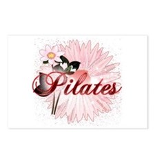 Pink PIlates Flowers by Svelte.biz Postcards (Pack