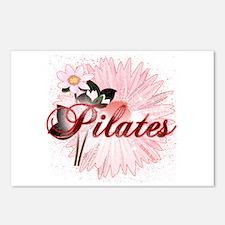 Pink PIlates Flowers by Svelte.biz Postcards (Pack