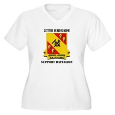 DUI - 27th Bde - Support Bn with Text T-Shirt