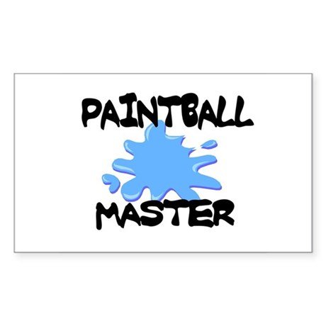Paintball Master Rectangle Sticker