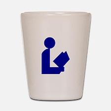 Blue Tinfoil Library Logo Shot Glass