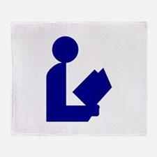 Blue Tinfoil Library Logo Throw Blanket