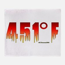451 Degrees Fahrenheit Throw Blanket