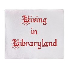 Living in Libraryland Throw Blanket