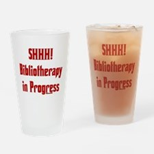 SHHH! Bibliotherapy in Progre Drinking Glass
