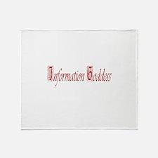 Information Goddess Throw Blanket