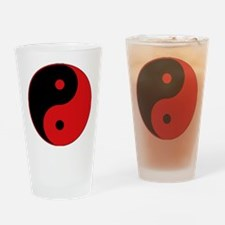 Yin & Yang (Red/Black) Drinking Glass