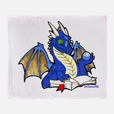 Blue Bookdragon Throw Blanket