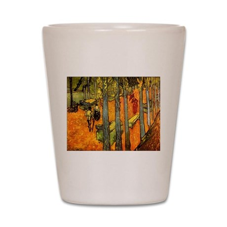 Alyscamps by Vincent Van Gogh Shot Glass