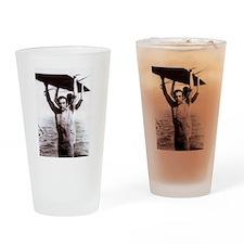 Rudolph Valentino Swimsuit Pi Drinking Glass