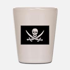 Pirate Captain Calico Jack Ra Shot Glass