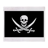 Calico jack rackham Fleece Blankets