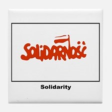 Solidarity Solidarnosc Flag Tile Coaster