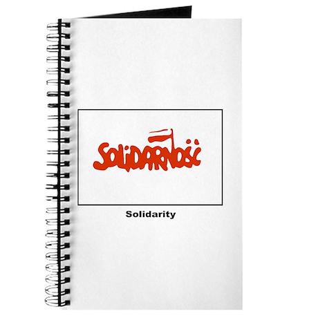 Solidarity Solidarnosc Flag Journal