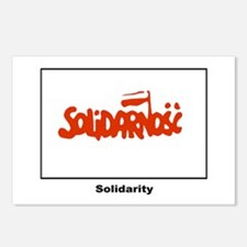 Solidarity Solidarnosc Flag Postcards (Package of
