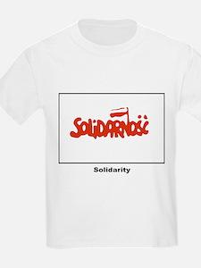 Solidarity Solidarnosc Flag (Front) Kids T-Shirt