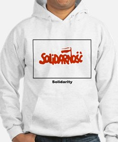 Solidarity Solidarnosc Flag (Front) Hoodie