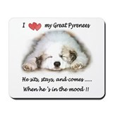 Great pyrenees Mouse Pads