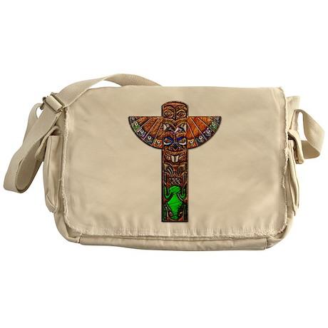OiJbwe Indian Totem Pole Messenger Bag