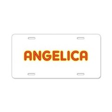 Angelica in Movie Lights Aluminum License Plate