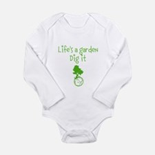 Lifes a garden Long Sleeve Infant Bodysuit