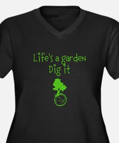 Lifes a garden Women's Plus Size V-Neck Dark T-Shi