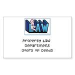 Property lawyer's Sticker (Rectangle 50 pk)