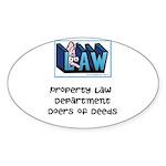 Property lawyer's Sticker (Oval 50 pk)