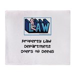Property lawyer's Throw Blanket